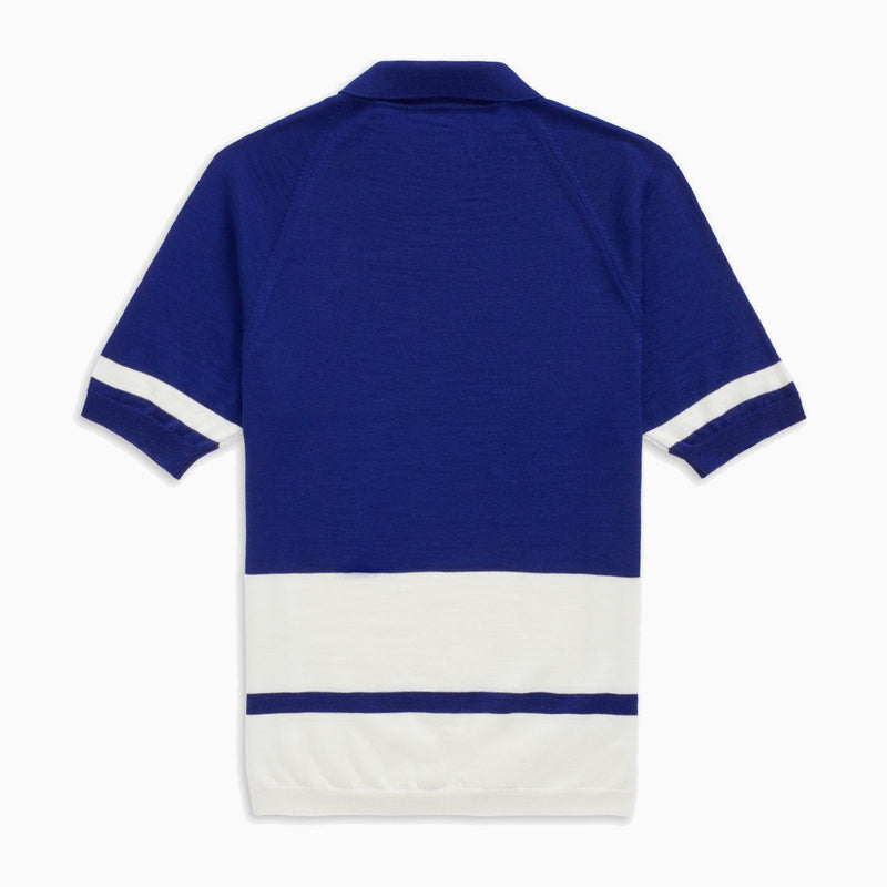 Fred Perry x Raf Simons Knitted Stripe Polo - Beatnik Blue
