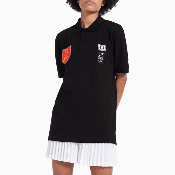Fred Perry x Art Comes First Shield Patch Pique Shirt - Black
