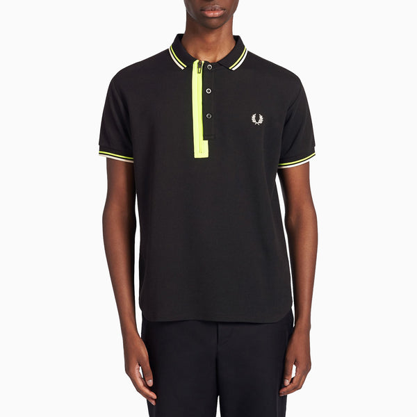 Fred Perry x Narifuri Placket Polo Shirt - Black