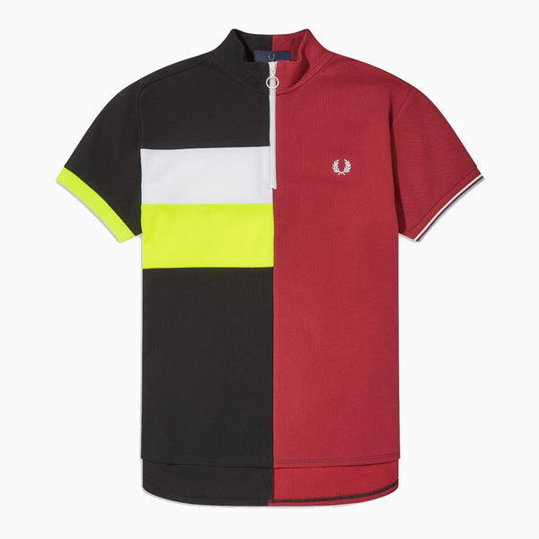 Fred Perry x Narifuri Split Polo Shirt - Black/Maroon