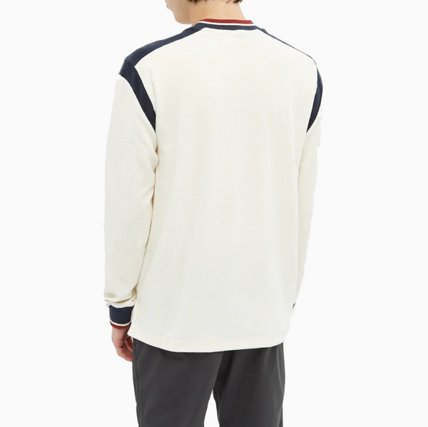 Fred Perry x Nicholas Daley Long Sleeve Towelling Crewneck - Pristine