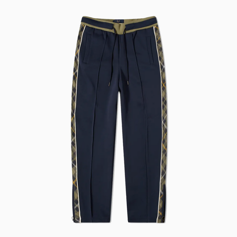 Fred Perry x Nicholas Daley Tartan Detail Track Pant - Shaded Navy