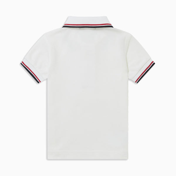 My First Fred Perry Shirt - White/Red/Navy