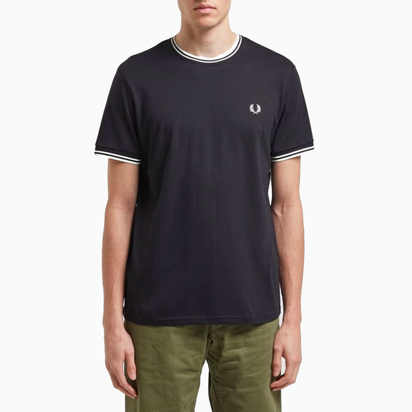 Fred Perry Twin Tipped T-Shirt - Navy