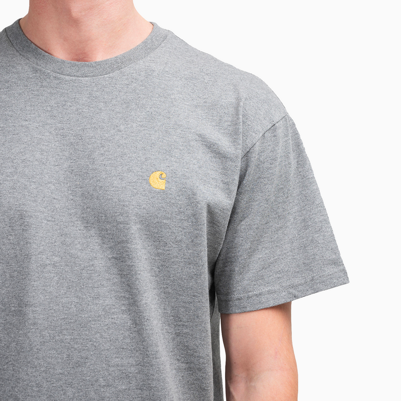 Carhartt Chase T-Shirt - Grey Heather/Gold