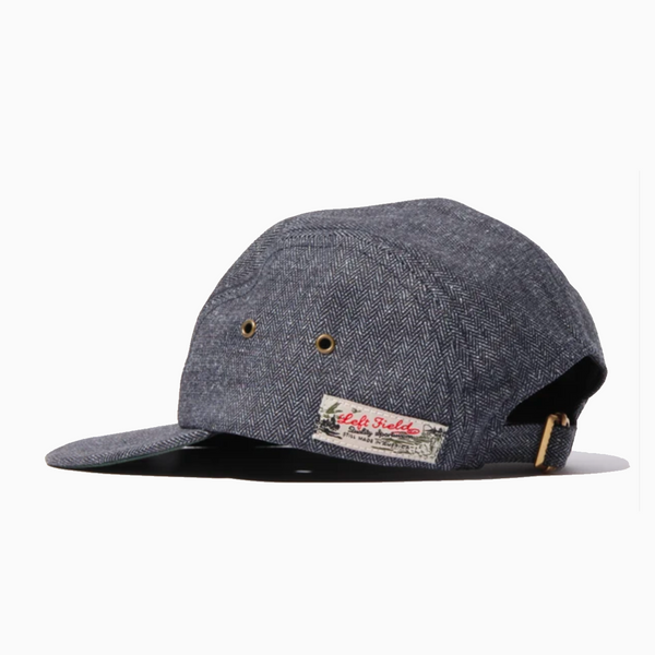 Left Field Long Bill Fishing Cap - Indigo