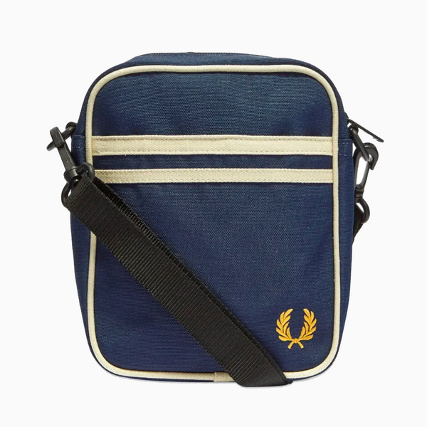 Fred Perry Twin Tipped Side Bag - Navy/Ecru