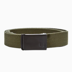 Fred Perry Slim Graphic Webbing Belt - Iris Leaf