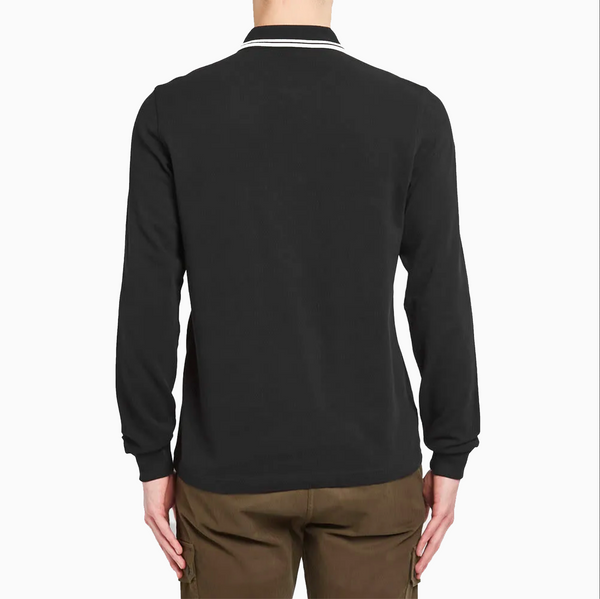 Fred Perry Long Sleeve Twin Tipped Shirt - Black