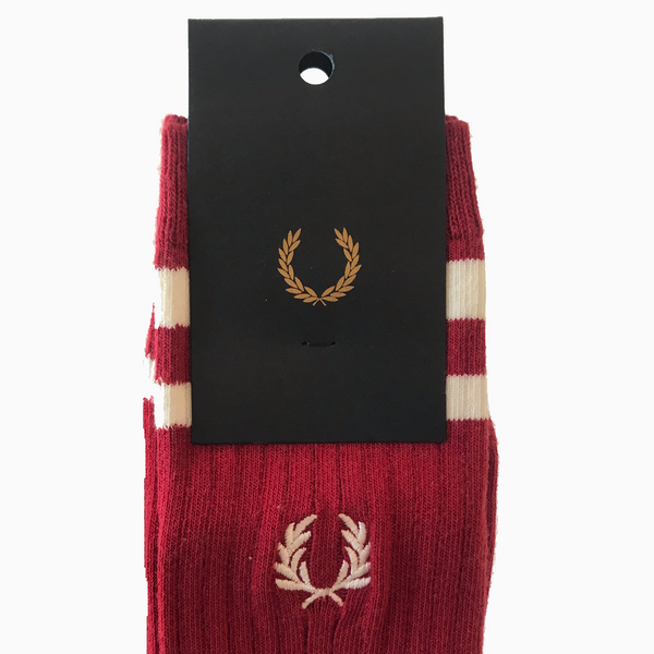 Fred Perry Twin Tipped Sports Sock - Red