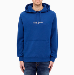 Fred Perry Graphic Hooded Sweatshirt - Deep Marine