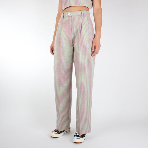 Wood Wood Women's Sunna Trousers - Green Check