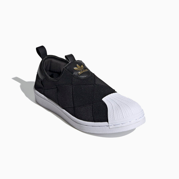 Adidas Superstar Slip on - Black/White/Gold