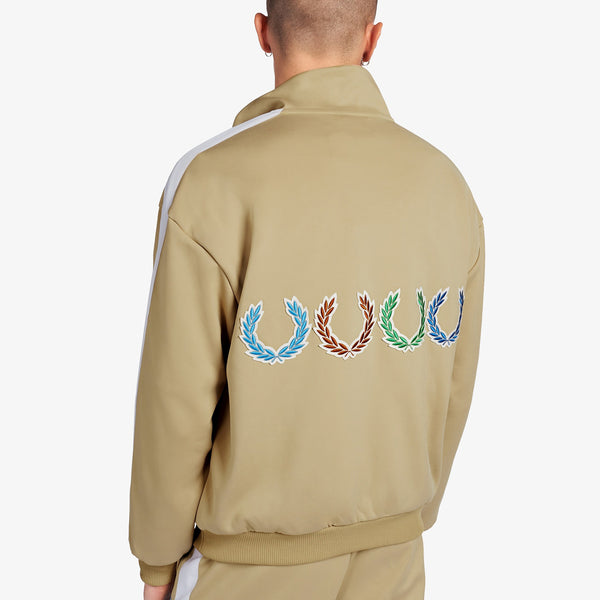 Fred Perry x Beams Laurel Wreath Patch Jacket - Camel