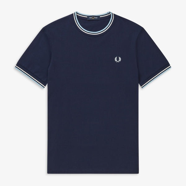 Fred Perry Twin Tipped T-Shirt - Carbon Blue