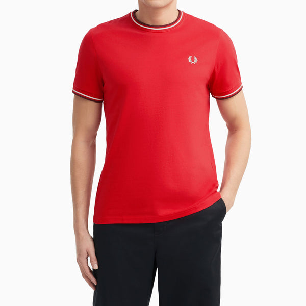 Fred Perry Twin Tipped T-Shirt - Jester Red