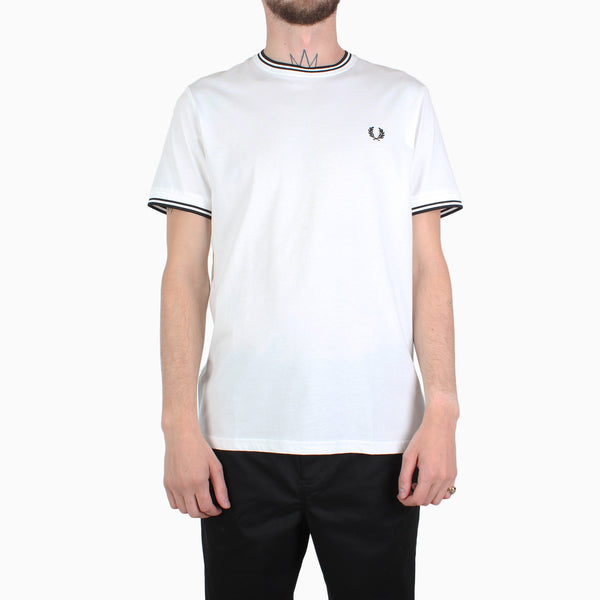 Fred Perry Twin Tipped T-Shirt - White