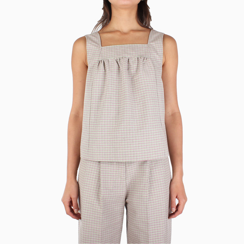 Wood Wood Women's Victoria Top - Green Check