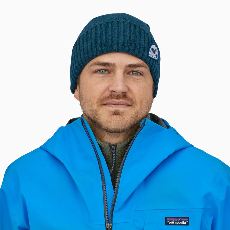 Patagonia Brodeo Beanie - TubeView/Crater Blue