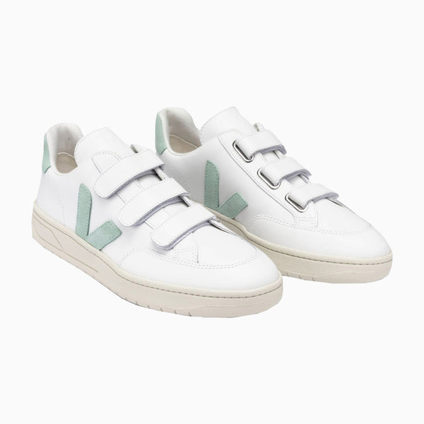 Veja V-Lock Leather - Extra-White/Matcha