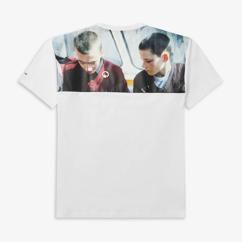 Fred Perry x Raf Simons Yoke Print T-Shirt - White