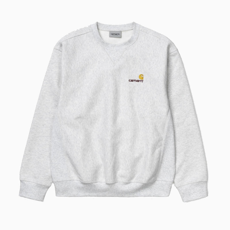 Carhartt American Script Sweat - Ash Heather