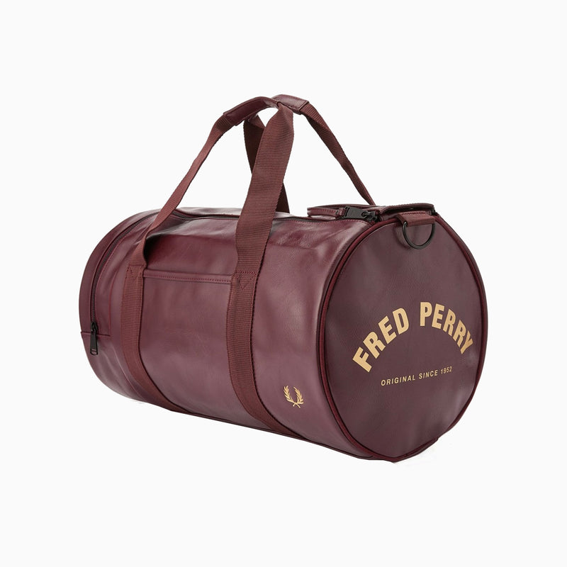 Fred Perry Tonal Barrel Bag - Port
