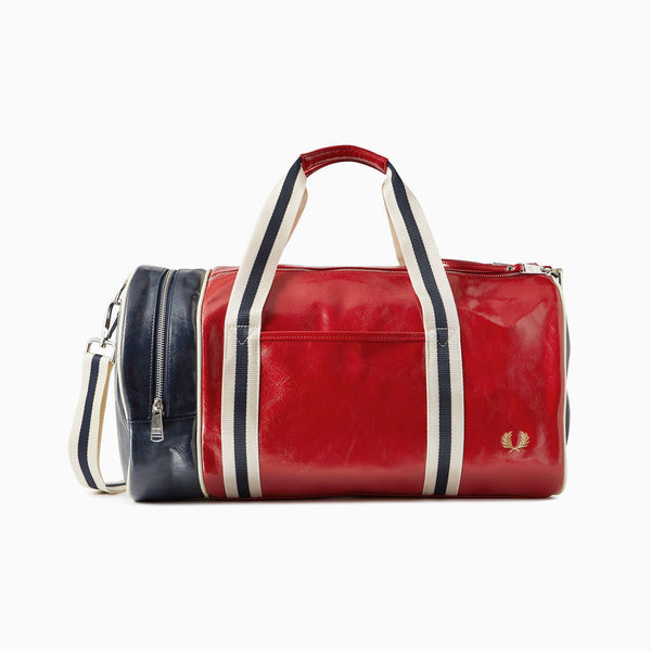 Fred Perry Colour Block Classic Barrel Bag - Tartan red/Navy