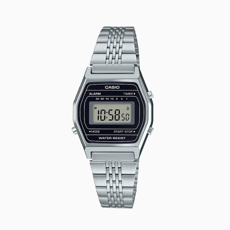 Casio LA690WA-1D Digital Revival Vintage Watch - Silver