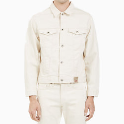 Naked & Famous Denim Jacket Natural Seed Denim - Natural
