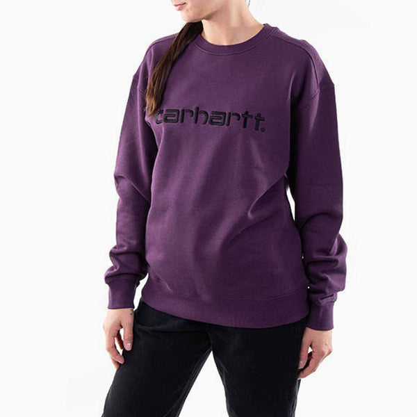 Carhartt Women's Sweatshirt - Boysenberry/ Black