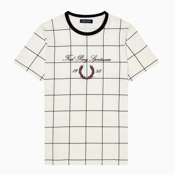 Fred Perry Archive Embroidered T-Shirt - Snow White