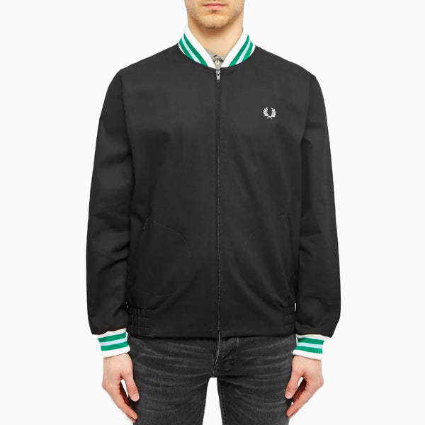 Fred Perry Made in England Bomber Jacket - Black/Mint