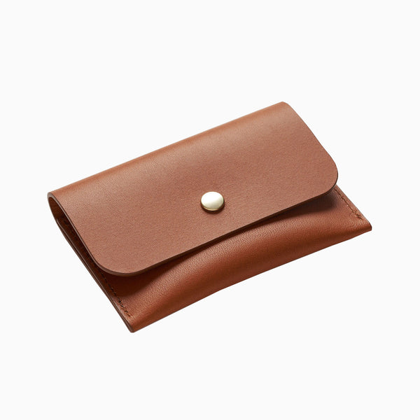 La Paz Garrido Leather Card Holder - Brown