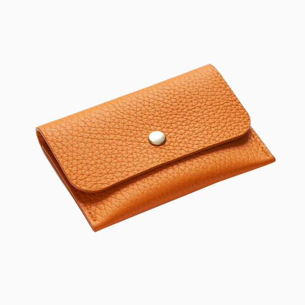 La Paz Garrido Leather Card Holder - Orange