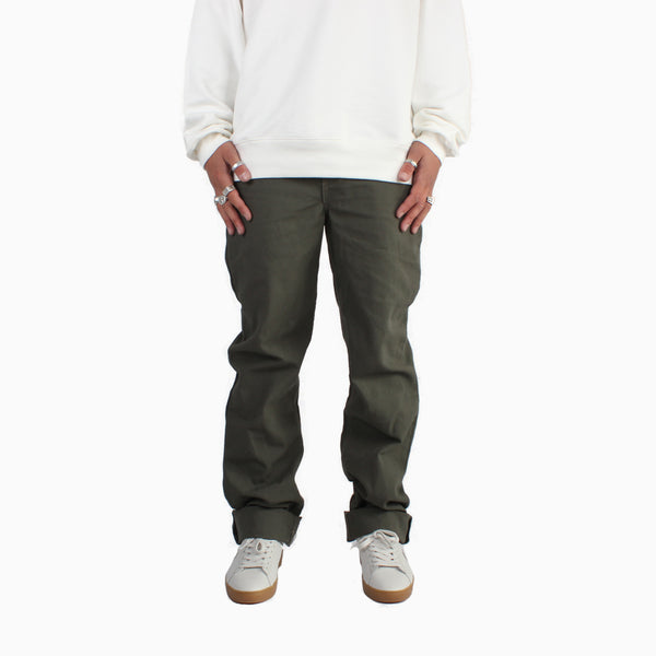 Left Field Duck Work Uniform Chinos - Olive