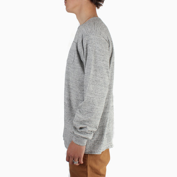 Left Field L/S Pocket Tee - Heather Grey
