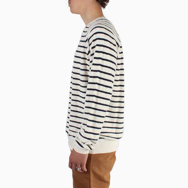La Paz CUNHA Towel Sweatshirt - Dark Navy Stripes