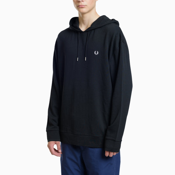 Fred Perry Blurred Laurel Wreath Sweatshirt - Black