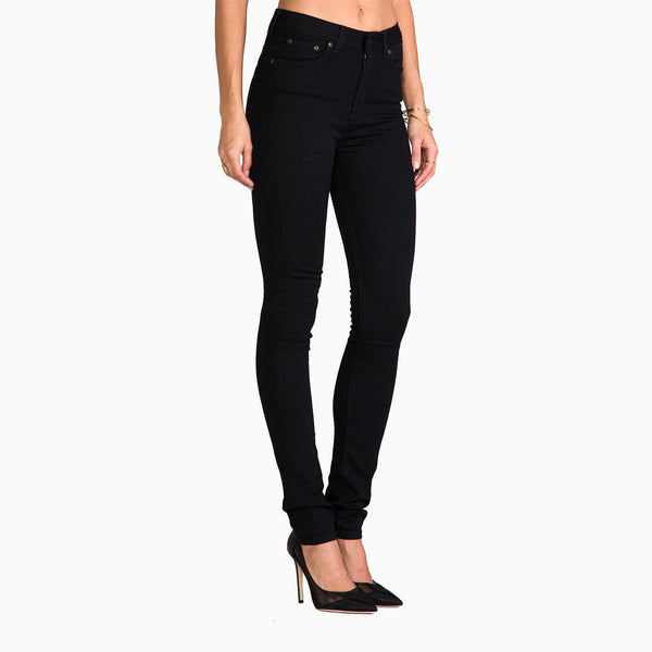 Naked & Famous The High Skinny Lightweight Super Stretch - Black