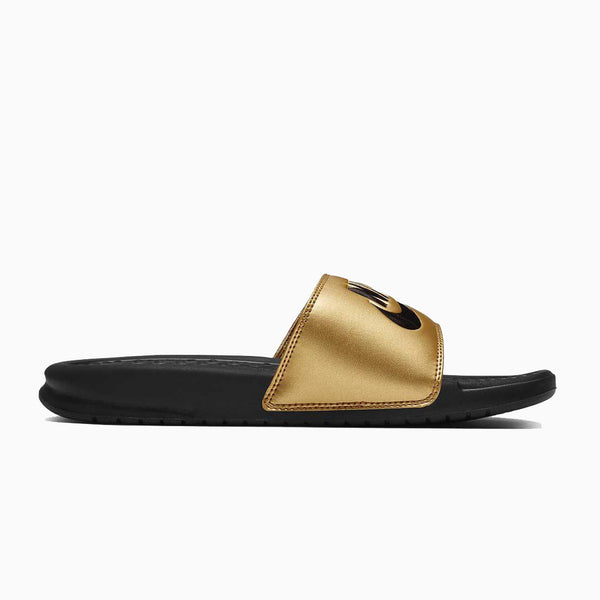 Nike Women's Benassi Slides - Black/Gold
