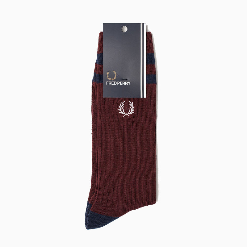 Fred Perry Twin Tipped Sports Socks - Port