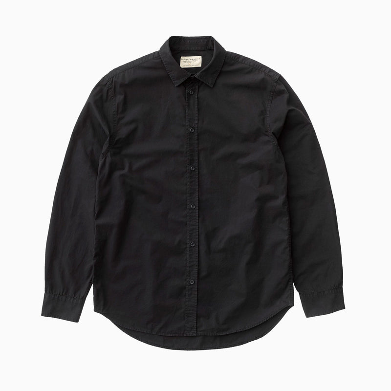 Nudie Gabriel Plain Shirt - Black