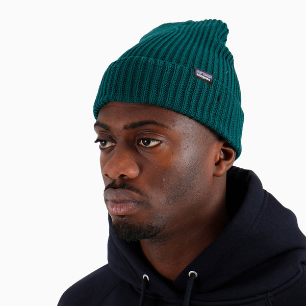 Patagonia Fishermans Rolled Beanie - Piki Green