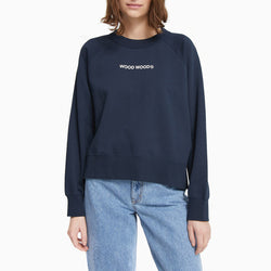 Wood Wood Hope Logo Sweatshirt - Navy