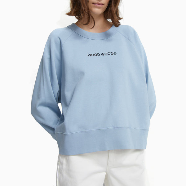 Wood Wood Hope Logo Sweatshirt - Dusty Blue