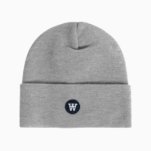 Wood Wood Gerald Tall Beanie - Grey Melange