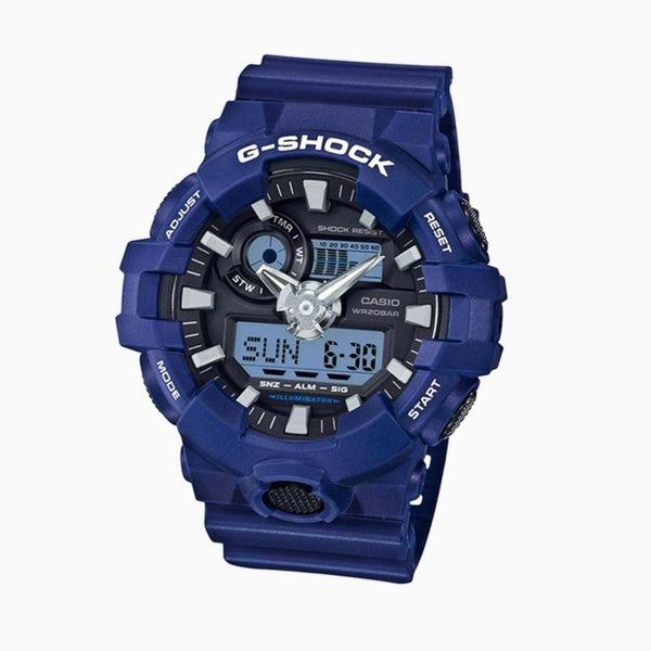 GSHOCK DUO - Blue Face/Blue Resin Band
