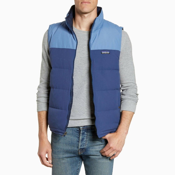 Patagonia M's Reversible Bivy Down Vest - Stone Blue/Woolly Blue