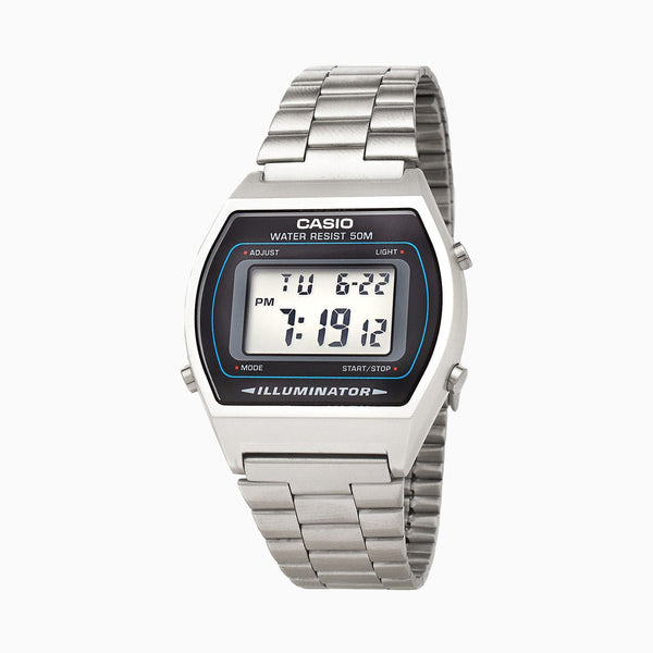 Casio Digital LED Stainless Steel - Silver